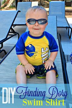 Make Your Own Finding Dory swim shirt with Cricut and some iron on vinyl! Gift Quotes, Men Quotes, Diy Blanket Ladder, Finding Dory, Disney Diy, Easy Sewing Projects, Diy Projects, Great T Shirts, T Shirts With Sayings