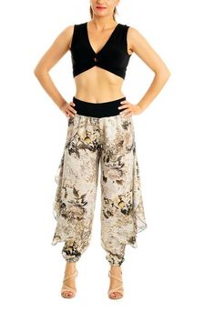 8d3be496edbb Satin Tango Pants with Slits | Women's Tango Clothes - conDiva #tangopants  #satin #