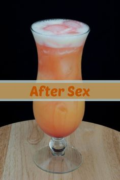 Sex After Sex cocktail is the perfect blend of vodka with orange juice and a splash of banana liqueur.After Sex cocktail is the perfect blend of vodka with orange juice and a splash of banana liqueur. Liquor Drinks, Cocktail Drinks, Vodka Cocktails, Amaretto Drinks, Margarita Cocktail, Bourbon Drinks, Whipped Vodka Drinks, Easy Vodka Drinks, Fruity Alcohol Drinks