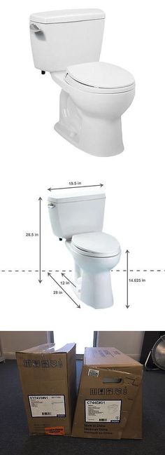 toilets toto vespin ii high efficiency 128 gpf elongated twopiece toilet cotton u003e buy it now only on ebay