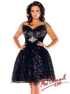 Style 64759F - Plus Size Prom Dress