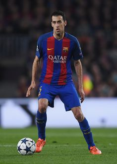 Sergio Busquets of Barcelona looks on during the UEFA Champions League Round of 16 second leg match between FC Barcelona and Paris Saint-Germain at Camp Nou on March 8, 2017 in Barcelona, Catalonia.