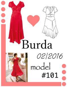Patchworkowa sukienka uszyta z wykroju Burda 2/2016 model 101 Burda Patterns, Boho, Formal Dresses, Fashion, Dresses For Formal, Moda, Formal Gowns, Fashion Styles, Bohemian