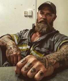 Moustache, Beard No Mustache, Scruffy Men, Hairy Men, Hot Guys Tattoos, Bearded Tattooed Men, Beard Look, Bear Men, Beard Tattoo