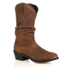 Durango Slouch Gambler Mens 12in Western Boots Size 14 Wide Brown