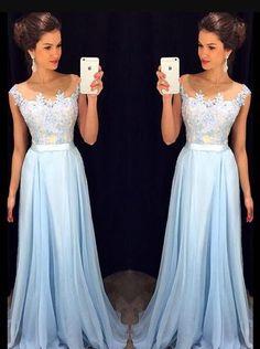 High Quality chiffon prom dress,A-Line Cheap Prom Dress,Charming