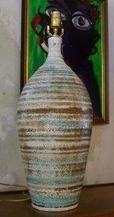 ceramic lamp base - liking these colours.