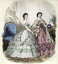 Revue des Modes et de l'Industrie de Paris, 1862.