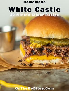 Our White Castle slider recipe delivers a juicy square mini hamburger. Cook these patties in the oven top with cheese and pickles. If you like Krystal burgers then top with mustard too. Ready in 30 minutes. Krystal Burger, White Castle Sliders, Mini Hamburgers, College Cooking, Oven Top, Slider Recipes, Cooking Recipes, Oven Recipes, Vegetarian Cooking