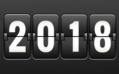 Download wallpapers 2018 year, 4k, New Year, 2018 concept, clock