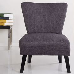 This low-profile chair makes for great entertaining space fare with an extra comfy upholstered seat and back. Three (3) color choices will easily match all settings.