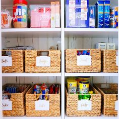 Not every pantry is a walk-in, but any size can look just as good! Make sure to measure your shelves in advance so the product fits correctly and takes advantage of the space.  Products listed on our favorites page and @liketoknow.it http://liketk.it/2q2AG ✨ #thehomeedit #pantry #organization