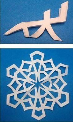 Creative Ideas - 8 Easy Paper Snowflake Templates 6