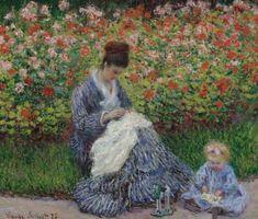 Camille Monet com uma criança, por Claude Monet (1875)