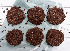 Chocolate Oat Cookies and a Cookbook! Recipe Desserts with oats, black beans, pure maple syrup, raw cacao, coconut oil
