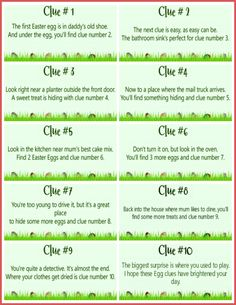 These free printable Easter Scavenger Hunt clues are SO much fun! Let the Easter Bunny lead your children on a super fun treasure hunt for their baskets using these cute scavenger hunt cards! Easter Scavenger Hunt, Scavenger Hunt For Kids, Scavenger Hunt Riddles, Scavenger Hunt Birthday, Anniversary Scavenger Hunts, Christmas Scavenger Hunt, Treasure Hunt For Kids, Treasure Hunt Clues, Easter Egg Hunt Clues