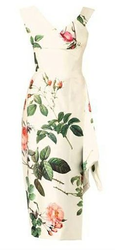 Prestige floral-print silk satin dress - someone get married and ask me to wear this.