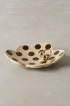 Polka dot trinket dish for your wedding ring