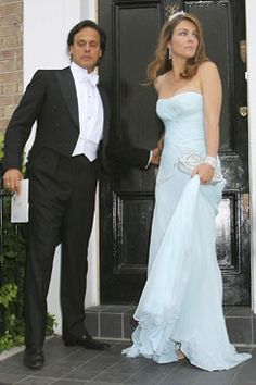Liz Hurley and husband Arun Nayar leave for The White Tie and Tiara Ball.