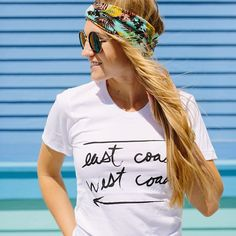 East coast west coast tee!