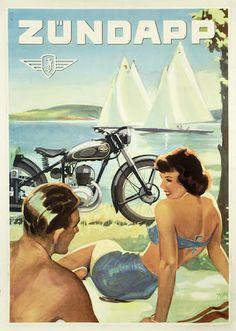 Zundapp Motorcycle Art Poster #pashnit