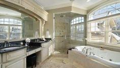 Dream master bathrooms creative of master bathroom dream master bathrooms tubs hgtv dream home 2015 master . Master Bathroom Tub, Double Sink Bathroom, Double Sink Vanity, Bathroom Layout, Bath Tub, Double Sinks, Tile Layout, Bathroom Showers, Bad Inspiration
