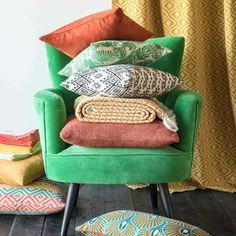 Housse de coussin en coton à motifs 30x50cm SOMBRERO   Maisons du Monde