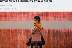 Between Exits Paintings by Hani Zurob, The Art Book Review, Review By Richard M. Sanchez