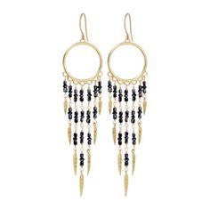 c43f5ea8c 18K Gold Dream Catcher Earrings with Grey Diamonds | Jewellery ...