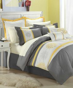 Look what I found on #zulily! Yellow Beijing Embroidered Comforter Set #zulilyfinds