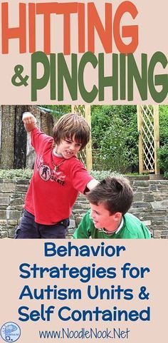 Hitting and Pinching in Autism Units and Self Contained- Tips and tricks to deal with behavior. Autism Sensory, Autism Activities, Autism Resources, Counseling Activities, Family Activities, Classroom Behavior Management, Behaviour Management, Preschool Behavior, Preschool Learning