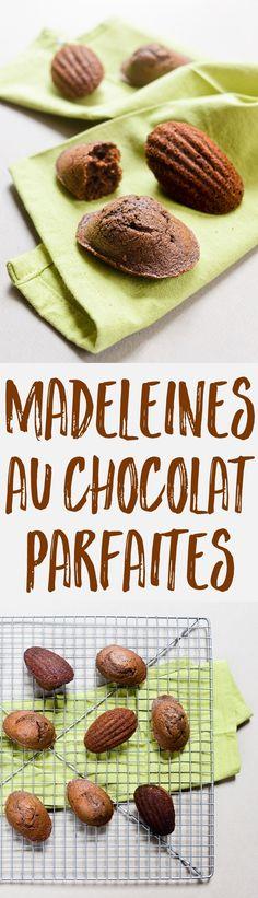 A la recherche de la recette parfaite pour des madeleines au chocolat intensément chocolatées, pas trop sucrées, avec une belle bosse ? C'est ici !