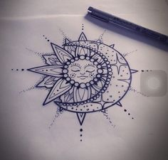 Tatoo sol y luna