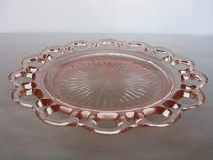 """Depression Glass Old Colony """"Lace Edge"""" Luncheon Plate - Depression Glass Old Colony """"Lace Edge"""" Luncheon Plate"""