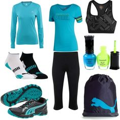 Mostly Puma Gym Gear, created by jwink88 on Polyvore