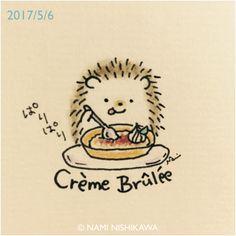 Little hedgehog craving creme brulee!