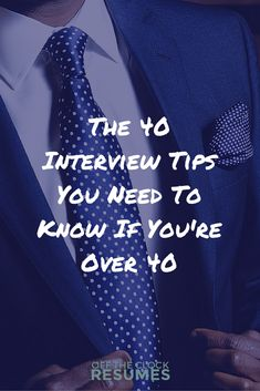 No matter what your story looks like, it's likely been years (maybe even decades!) since you've been in a job interview. Luckily, this list of 40 interview tips you need to know if you're over 40 was put together just for you… Interview Answers, Interview Skills, Job Interview Questions, Job Interview Tips, Interview Preparation, Job Interviews, Preparing For An Interview, Interview Coaching, Job Resume