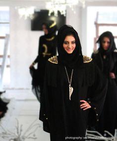 Abayas Spiked Up!   Nspired Style, abayas, spikes on abayas
