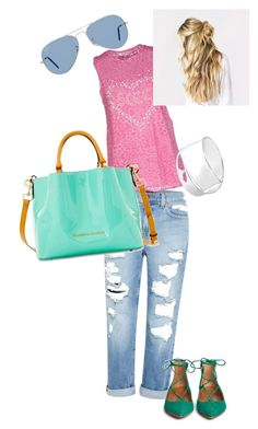 """""""i want summer asap"""" by olia-winterintheheart ❤ liked on Polyvore featuring Genetic Denim, SCEE, Ray-Ban, Dooney & Bourke, Aquazzura and Gucci"""