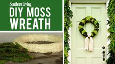 DIY Moss Christmas Wreath | Soothing hues and luscious textures set the tone for an elegant holiday.