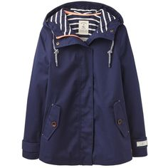 Women's Joules Coast Waterproof Hooded Jacket ($97) ❤ liked on Polyvore featuring outerwear, jackets, waterproof jacket, joules jacket, waterproof hooded jacket, water proof jacket and evening jackets