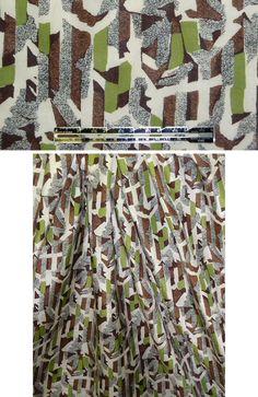NY designer avocado/brown cotton/silk voile from emmaonesock.com