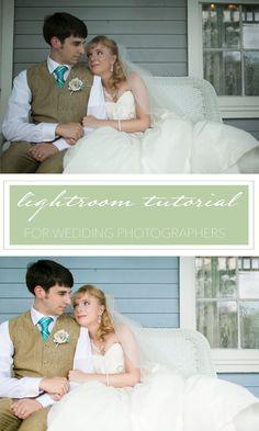 Lightroom tutorial for wedding photographers.