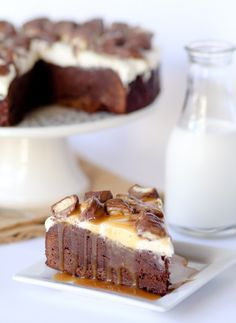Twix brownie #cheesecake