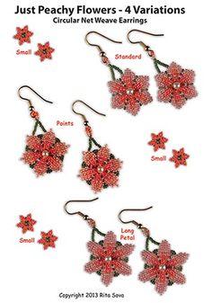 Just Peachy Flowers - 4 Variations Pattern