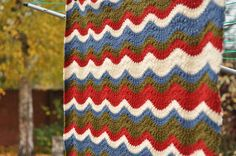 I ♥ this ripple pattern.  Pattern: Waterbeach Ripple – from 200 Ripple Stitch Patterns by Jan Eaton