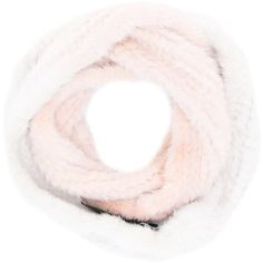 Yves Salomon Infinity Twist Scarf ($641) ❤ liked on Polyvore featuring accessories, scarves, white, yves salomon, white infinity scarves, infinity scarves, white shawl and mink shawl