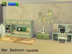 The Sims Resource: Mar Bedroom by Kardofe • Sims 4 Downloads