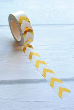 Gold Foil Washi Tape   Gold Arrow Foil Washi Tape, Paper Tape, 15mm Tape, Planner Supplies, Planner Washi Tape  08