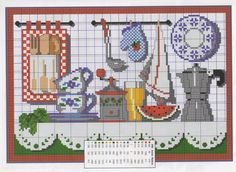 This Pin was discovered by war Cross Stitch Fruit, Cross Stitch Kitchen, Cross Stitch Boards, Hand Embroidery Patterns, Diy Embroidery, Cross Stitch Patterns, Cross Stitching, Cross Stitch Embroidery, Cross Stitch Geometric